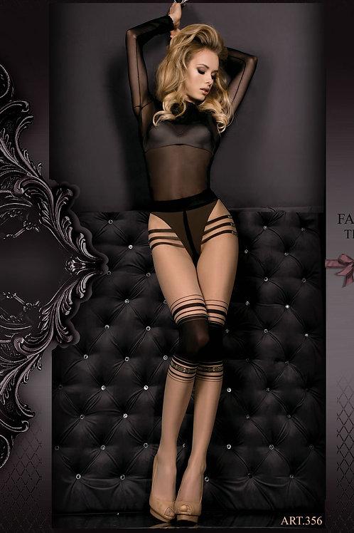 Ballerina 356 Tights Skin / Nero (Black)