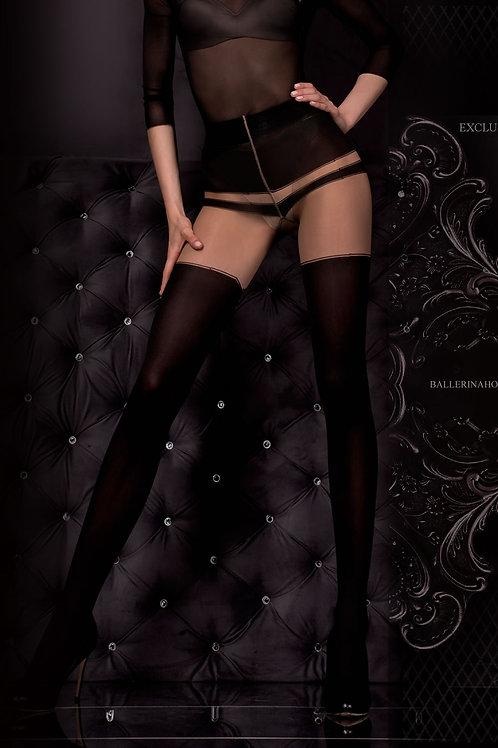 Ballerina 302 Tights Nero (Black) / Skin
