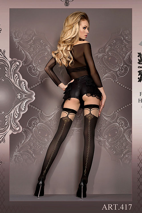 Ballerina 417 Stockings Nero (Black) / Skin