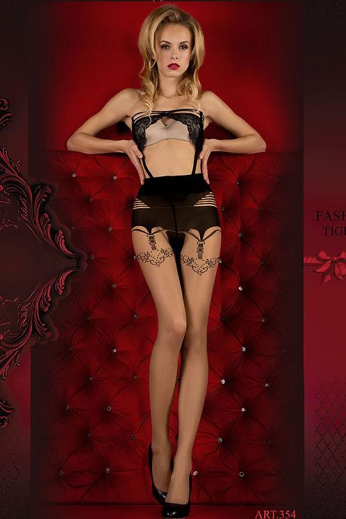 Ballerina 354 Tights Skin / Nero (Black)