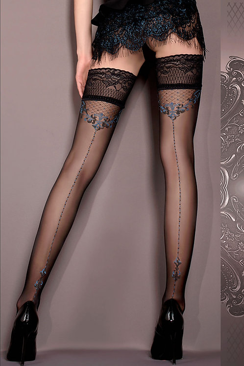 Ballerina 415 Hold Ups Nero (Black) / Blue