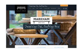 Markham Reclaimed - Re-Branding & Website Design, Etsy Integration
