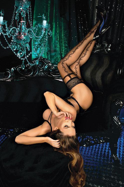 Ballerina 444 Hold Ups Nero (Black)