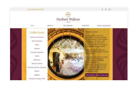 Herbert walton Antiques - Branding & Website Design