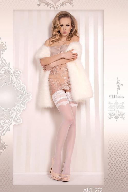 Ballerina 373 Hold Ups Bianco (White)