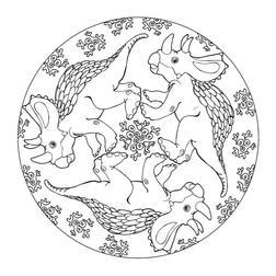 Dinosauer Mandala