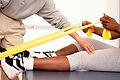Sesión de terapia física