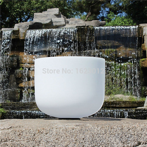 """8"""" F Note Frosted Quartz Crystal Singing Bowls"""