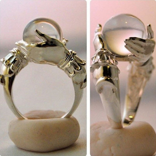 Magic Prophecy Crystal Ball Ring