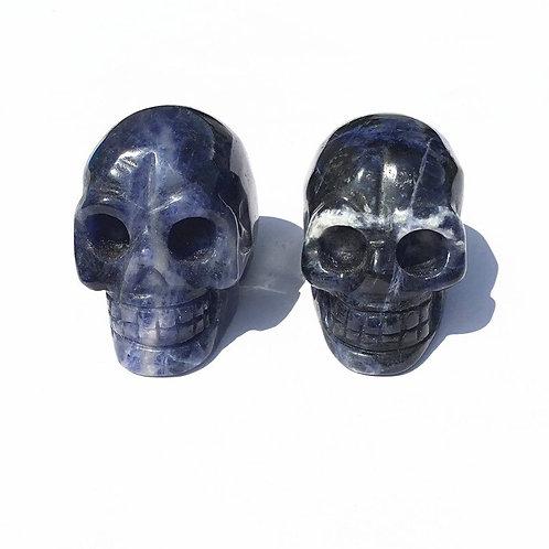 Hand Carved Sodalite Crystal Skull