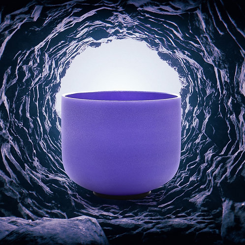 Note A Pineal Chakra Frosted Quartz Crystal Singing Bowl
