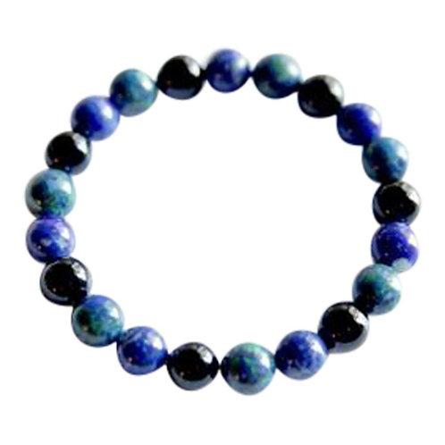 Azurite Malachite, Lapis Lazuli & Black Onyx Bracelet