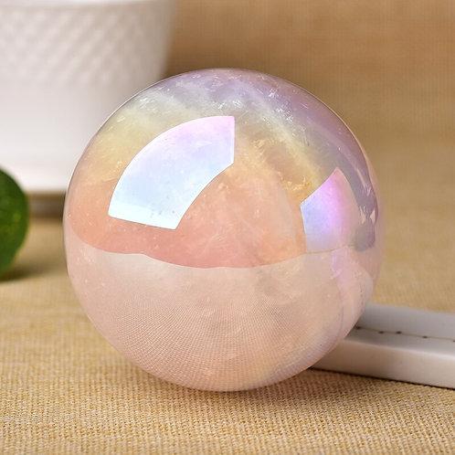 Aura Rose Quartz Sphere
