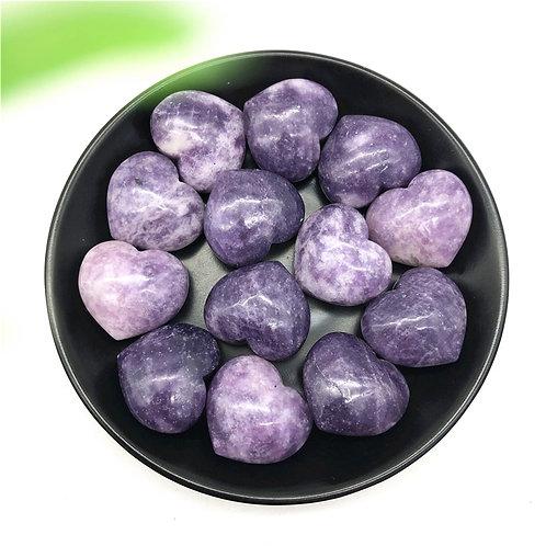 Purple Lepidolite Heart