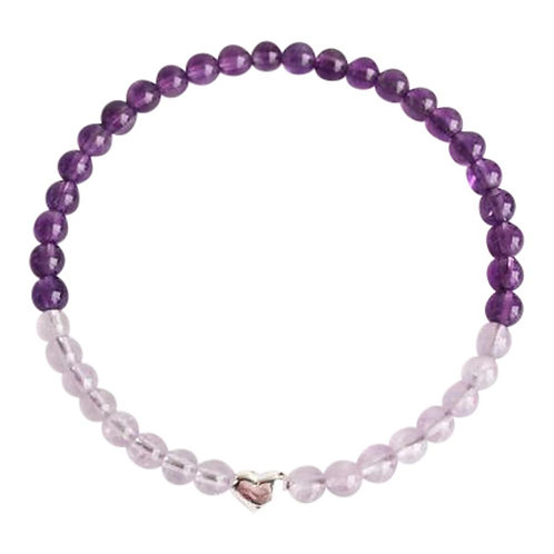 Amethyst and Cape Amethyst Sterling Silver Bracelet