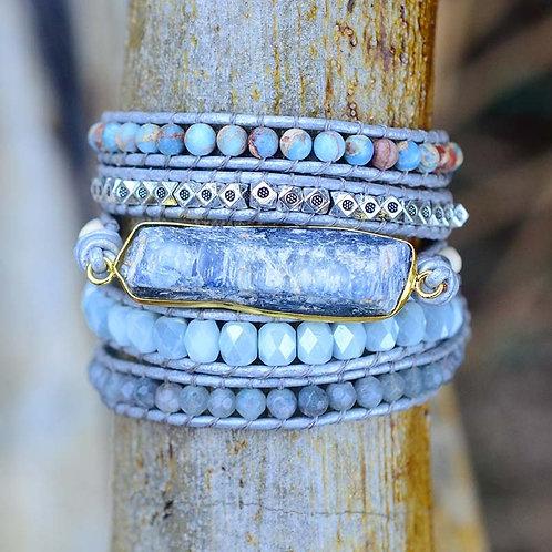 Blue Topaz Wrap Bracelet