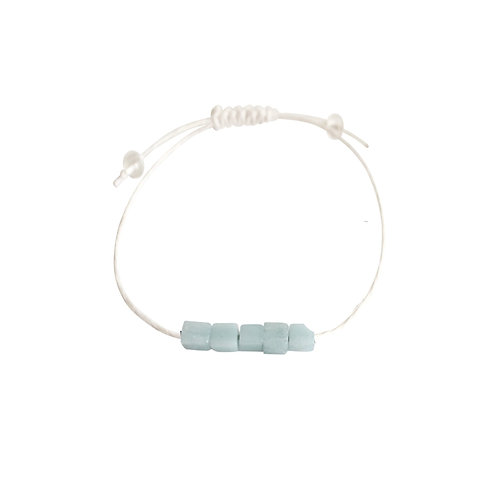Amazonite + Hemp + Choice of Anklet or Bracelet