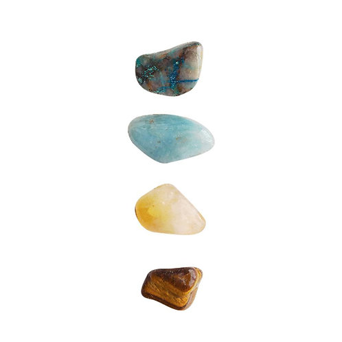 Speak Freely * Aquamarine, Chrysocolla, Citrine & Tiger Eye