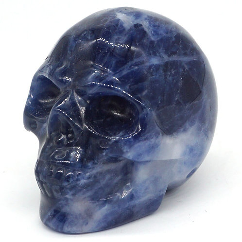 Blue Sodalite Skull