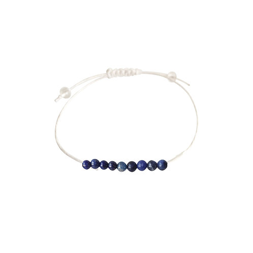 Sodalite, Kyanite & Lapis Lazuli + Hemp + Choice of Anklet or Bracelet