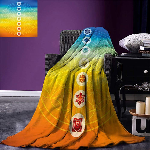 Abstract Throw Chakras Blanket