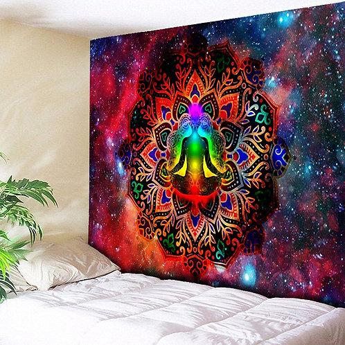 Galaxy Lotus Chakras Tapestry