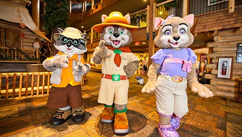 Great Wolf Lodge Characters