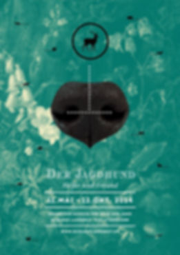 Thea Sonderegger, Plakat Jagdhunde