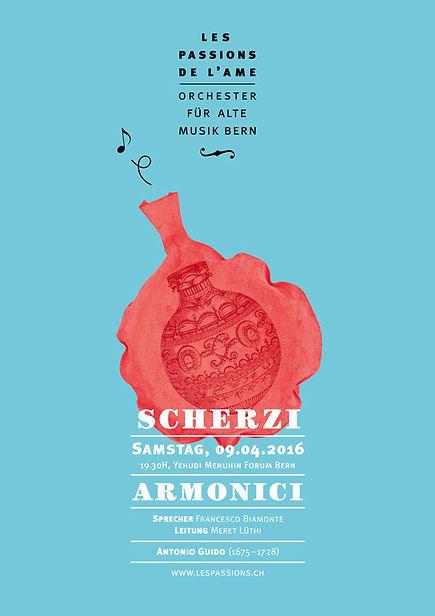 Thea Sonderegger, Plakat Scherzi Armonici