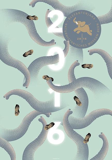 Thea Sonderegger, Elefantenjahr Plakat