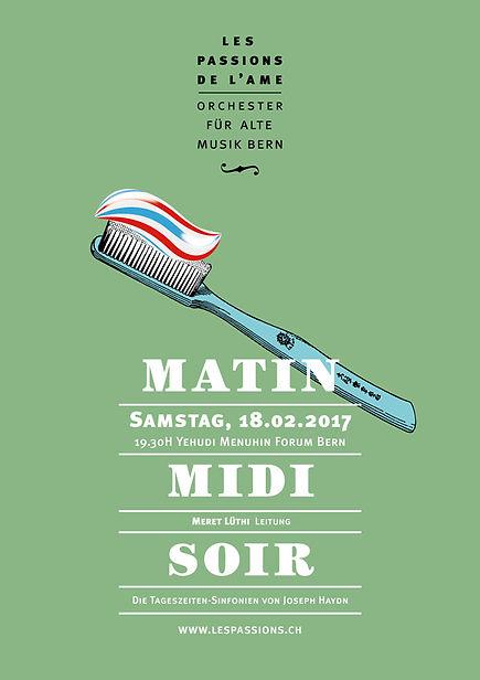 Thea Sonderegger, Plakat Matin – Midi – Soir