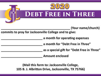 Debt Free in Three: 2020