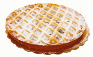 Pasticceria Siciliana Crostata crema di Nocciola