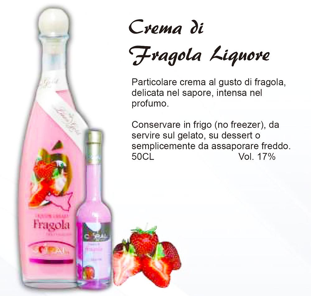 Liquore Siciliano Crema di Fragola