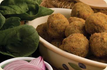 Arancino mignon with spinach