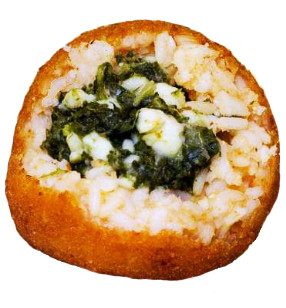Arancino with spinach