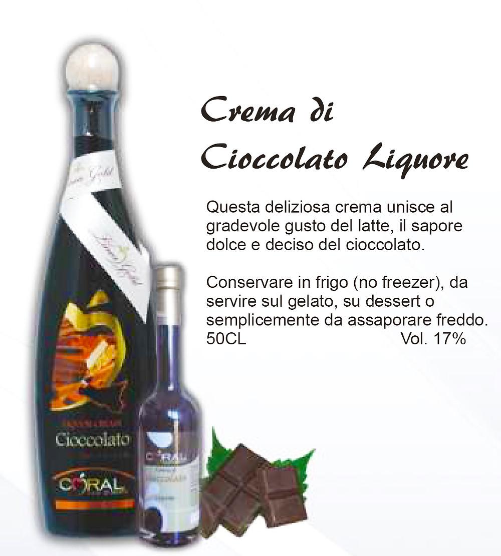 Liquore Siciliano Crema di Cioccolato