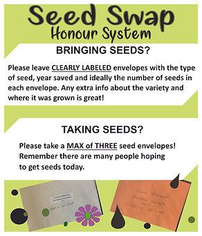 SMBGC 2020 Seedy Saturday Seed Swap post
