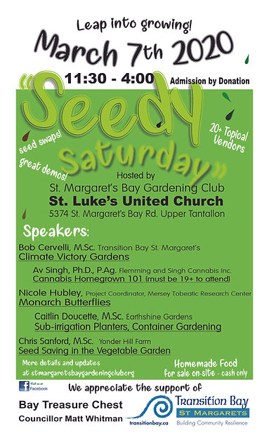 SMBGC 2020 Seedy Saturday Poster Revised