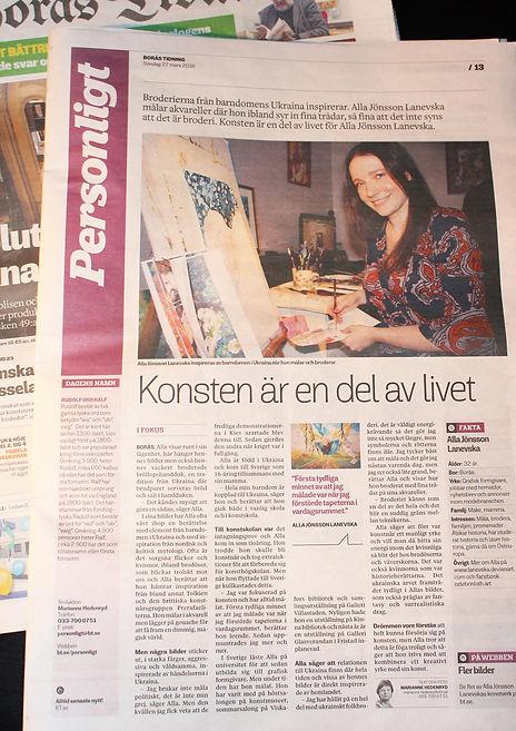Borås Tidning. Konsten är en del av livet