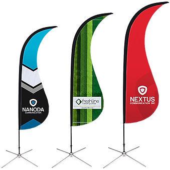Impression beachflags Tournai