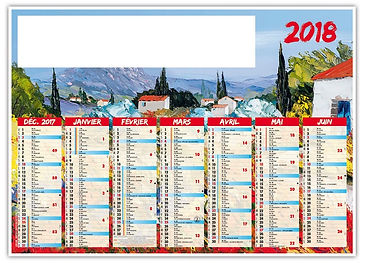 Impression calendriers muraux Tournai