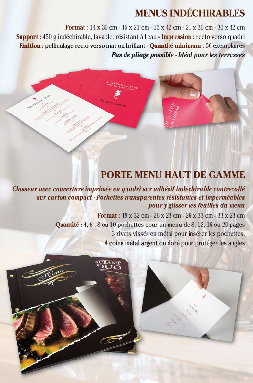 impression menus restaurants tournai