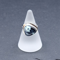 New Lander turquoise and silver ring