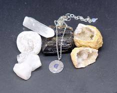 Tanzanite and silver pendant