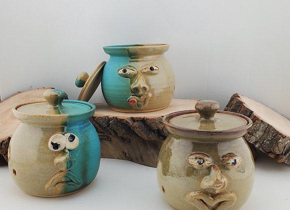 Garlic Pot w/Face