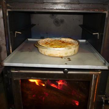 手作りストーブで料理!!