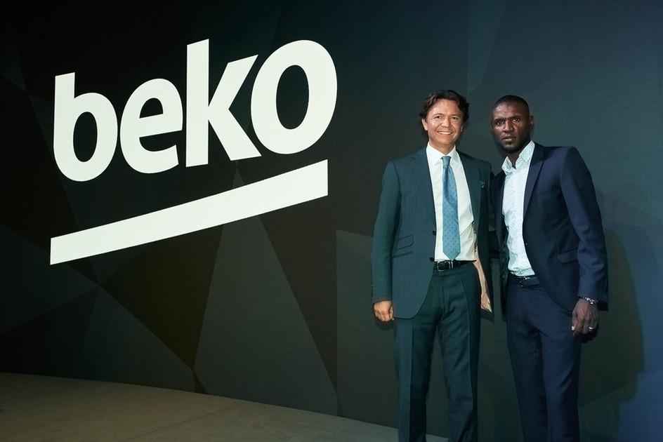 Hakan Burgurlu und Eric Abidal für BEKO