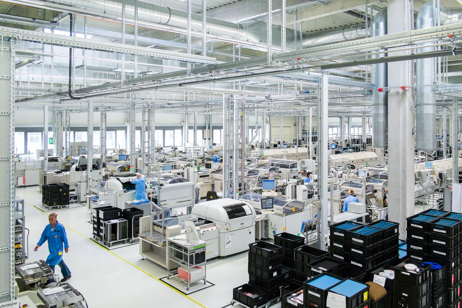 Industriefotografie Eröffnung Werk L für Siemens