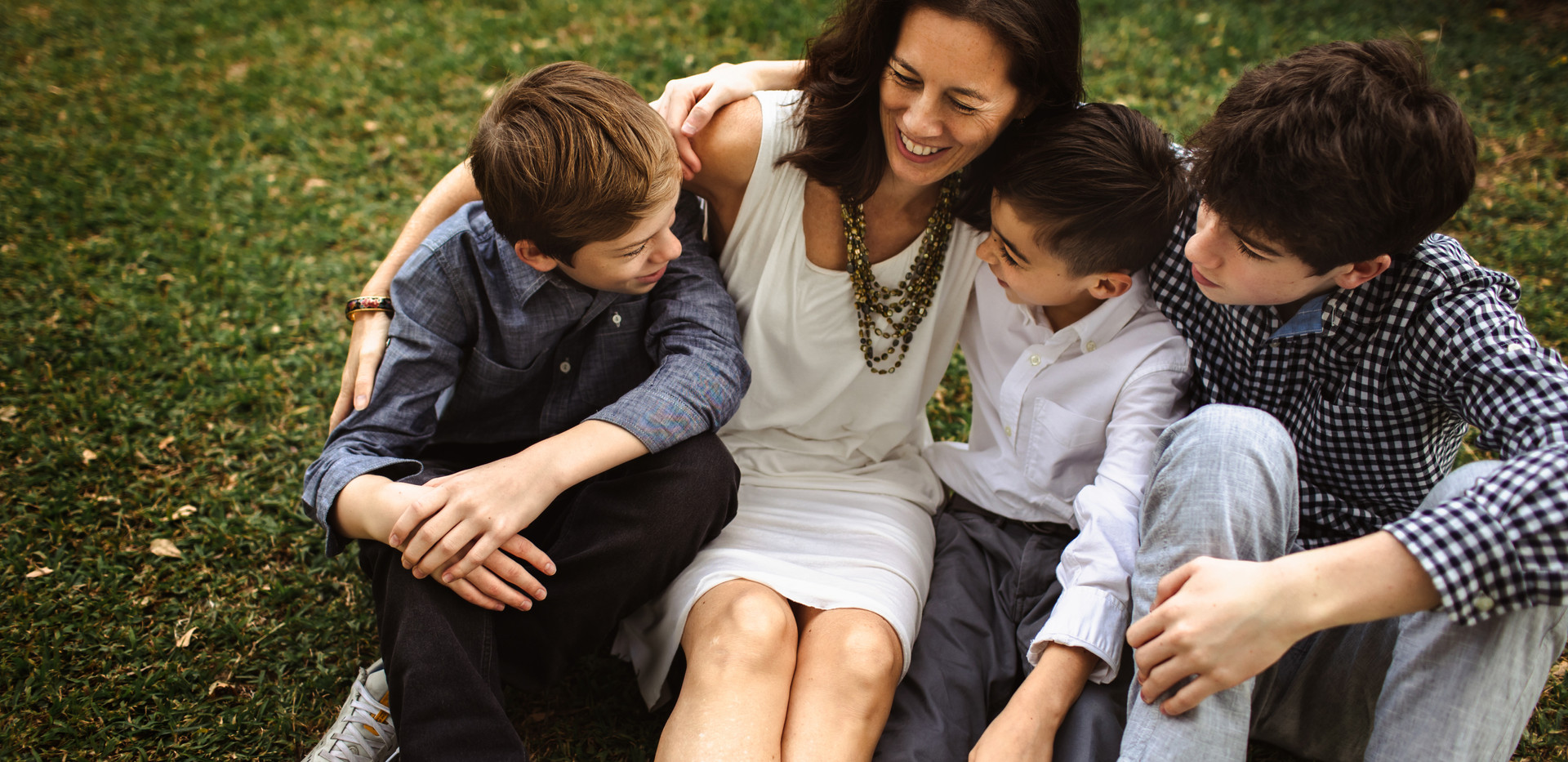 Mother and her three teenager boys
